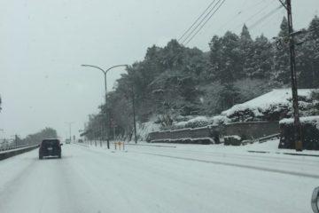 ❄飯塚の初雪☃